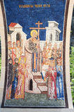 Artwork at Ostrog monastery near Danilovgrad Stock Photos