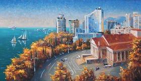 artwork outono em Sochi Autor: Nikolay Sivenkov Imagens de Stock Royalty Free