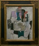 An artwork by Pablo Picasso in the famous Tate Modern in London Royalty Free Stock Images