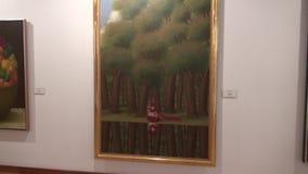 Artwork, Paintings, Museum Exhibits stock video footage