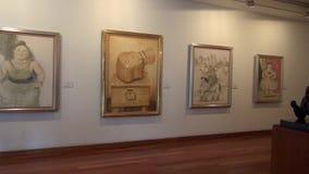 Artwork, Paintings, Museum Exhibits. Stock video of museum artwork stock footage