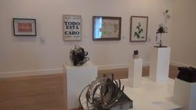 Artwork, Paintings, Museum Exhibits. Stock video of museum artwork stock video footage