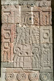 Artwork at patio of the Pillars in Teotihuacan Stock Photo