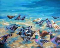 artwork Pombos da praia Autor: Nikolay Sivenkov ilustração do vetor