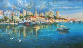 artwork Porto de Sochi Autor: Nikolay Sivenkov Fotografia de Stock Royalty Free