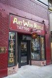 Artwork rebels Tattoo studio in Portland - PORTLAND - OREGON - APRIL 16, 2017. Artwork rebels Tattoo studio in Portland - PORTLAND - OREGON Royalty Free Stock Image