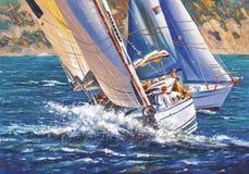 artwork Regatta da navigação Autor: Nikolay Sivenkov Fotografia de Stock Royalty Free