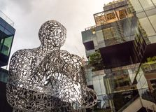 Artwork sculpture representing hope,beauty,unity and the symbolic nature of language by artist Jaume Plensa. BANGKOK, THAILAND. – On July 24, 2018 stock photography