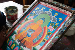 Artwork in Sikkim Royalty Free Stock Images