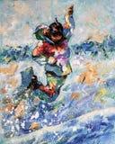 artwork Snowboarder no salto Autor: Nikolay Sivenkov ilustração stock