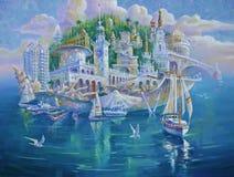 artwork Sochi é a pérola de Rússia Autor: Nikolay Sivenkov ilustração royalty free