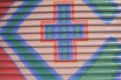 Artwork on Soho District storefront, NY City Royalty Free Stock Image