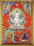 Artwork of tibet. With buddha picture, religional story of Sakya Muni Stock Photos