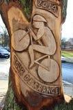 Artwork  for Tour de France 2014 Harrogate Stock Photo