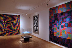 Artwork at the Vasarely Museum in Pecs Hungary Royalty Free Stock Photography