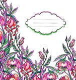 Artwork vector flower pattern Stock Photo