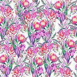 Artwork vector flower pattern Royalty Free Stock Images