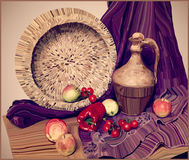 Artwork vector painting illustration of still life Royalty Free Stock Photos