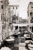 Artwork  in vintage  style,  Venice Stock Photography