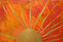 Free Artwork With Golden Sun Royalty Free Stock Photos - 3259688