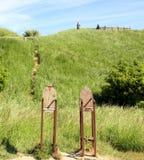 Artworks at Cape Arkona Royalty Free Stock Photos
