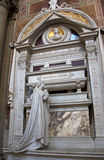 Artworks at the tomb of Gioachino Antonio Rossini in Basilica of Santa Croce, Florence Stock Images