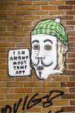 Arty graffiti na ścianie w Hackney, Londyn obrazy royalty free