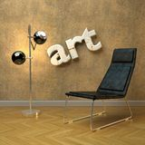 Arty modern interior Royalty Free Stock Images