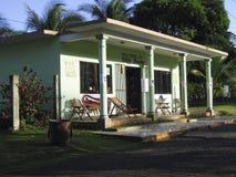 Artykuł wstępny domowa typowa architektura w Dużej Kukurydzanej wyspie Nikaragua Ameryka Środkowa zdjęcia stock