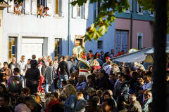 Artykuł wstępny, 4 2015 Październik: Barr, Francja: Fety des Vendanges Obrazy Stock