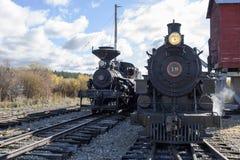 ARTYKUŁ WSTĘPNY, 18 2015 Październik, Historyczni kontrpara pociągi, dziedzictwo linia kolejowa Sumpter Dolinna kolej i linia kol Obraz Royalty Free