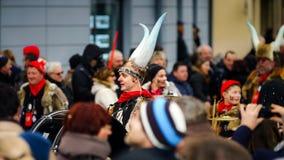 Artykuł wstępny, 14st 2016 Luty: Selestat, Francja: Karnawał i norma Fotografia Stock