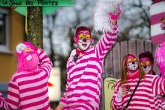 Artykuł wstępny, 14st 2016 Luty: Selestat, Francja: Karnawał i norma Zdjęcie Royalty Free