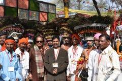 Artykuł wstępny: Surajkund, Haryana, India: Feb 06th, 2016: Duch karnawał w 30th zawody międzynarodowi wykonuje ręcznie karnawał Obrazy Stock