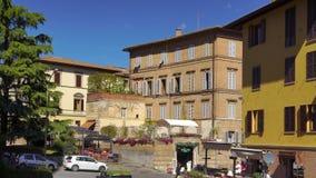 Artykuł wstępny: 7th 2017 Październik: Siena, Włochy Słoneczny dzień ulica zbiory wideo