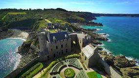 Artykuł wstępny: Wrzesień 19, 2017 Brittany, Francja Starego średniowiecznego francuza kasztelu fortu losu angeles Latte panorami zbiory
