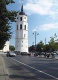 Artykułu wstępnego wierza Vilnius katedra Lithuania zdjęcie royalty free