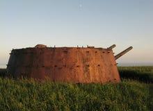 Artyleria na wyspie Askold Obraz Stock
