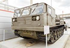 Artyleryjski ciągnika ATS-59G mod 1959 Pyshma, Ekaterinburg, Russi obrazy royalty free
