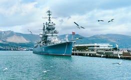Artyleryjski krążownik Mikhail Kutuzov Fotografia Royalty Free