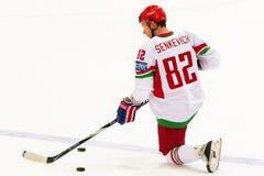 Artyom Senkevich à la carte de travail 2010 d'IIHF Photo libre de droits