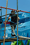 artystów graffiti fotografia royalty free