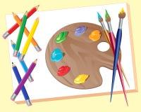 artystów materiały Obraz Stock