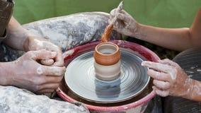 03 07 2011 artystów miasta klasy gorodets ćwiczą nizhny novgorod ceramicznego region Russia Obraz Royalty Free