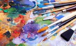 Artystów muśnięcia zdjęcie royalty free