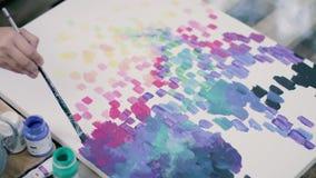 Artystów remisów koloru abstrakcjonistyczny obraz Barłóg na tle zbiory