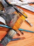 Artystów susi muśnięcia - farb muśnięcia zdjęcia royalty free