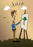 artysta Obrazy Stock