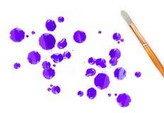 Artysta farby muśnięcia i trzy kolor Obraz Stock