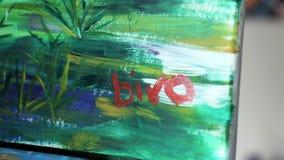 Artysta maluje obrazek zbiory